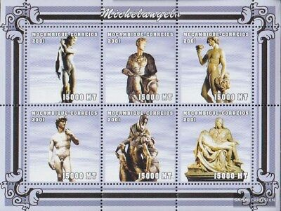 Never Hinged 2001 Art Discounts Price Topical Stamps Friendly Mosambik 2127-2132 Sheetlet Unmounted Mint