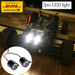 Rot und Wei/ß 4er-Set LED Scheinwerfer Lampe Licht f/ür 1//10 1//8 Rc Auto