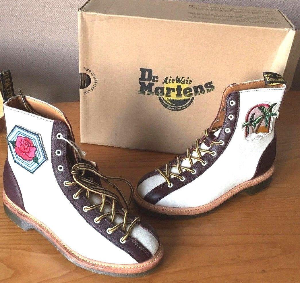 Dr.  Martens Aggy lited avorio stivali in pelle di tela in bianco UK 9 EU 43  ordina ora con grande sconto e consegna gratuita