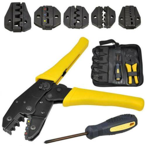 Insulated Cable Connector Terminal Ratchet Crimping Wire Crimper Plier Tool