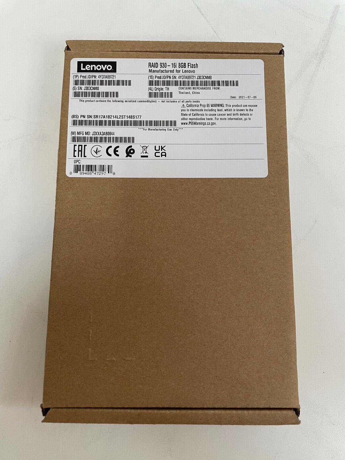 4Y37A09721, ThinkSystem RAID 930-16i 8GB Flash PCIe 12Gb Adapter