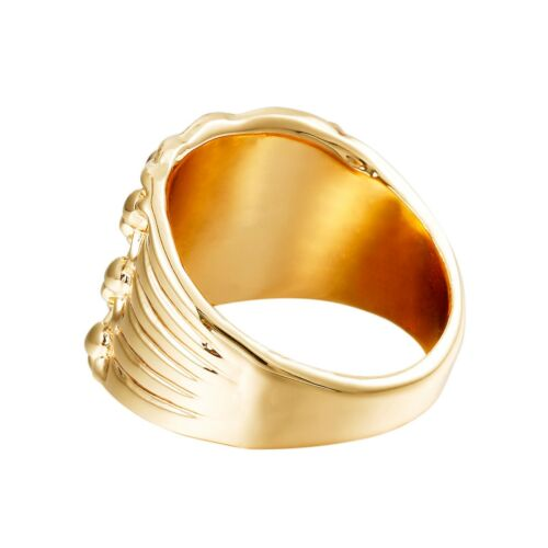 ALLOY KEEPER RING GOLD TONE
