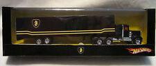 """Hot Wheels CUSTOM '75 KENWORTH W900 w/Trailer """"Knight Rider"""" RR in Display Case"""