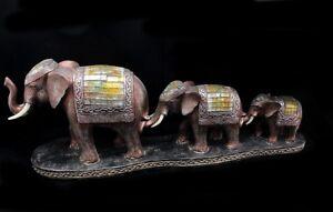 Garten Figur Deko grau Elefant Gartenfigur Mutter