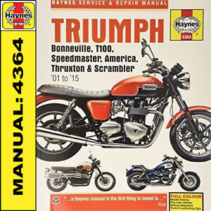 Triumph-Bonneville-T100-America-Speedmaster-2001-2015-Haynes-Manual-4364-NEW