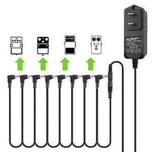 Digitech-JOYO-US-Guitar-Effects-Pedal-Power-Supply-Adapter-8-ways-Daisy-Chain