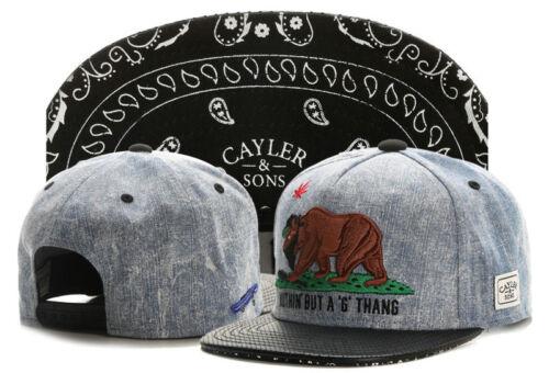 Hot Men/'s CAYLER WEEZY Sons Hip Hop adjustable Baseball Snapback Cool Hat cap