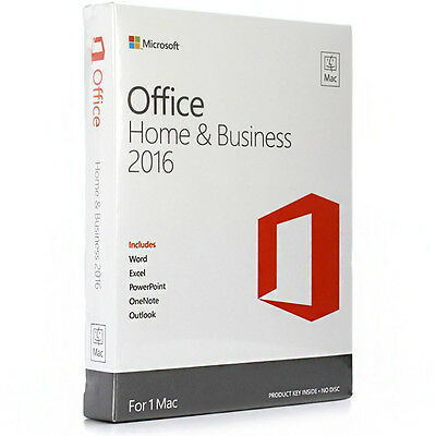 microsoft office home and business 2016 product key card