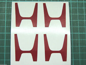 H Centre Cap Stickers Decal Civic FN2 Type R