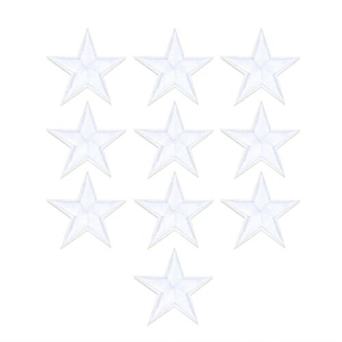 10pcs Star Embroidery Sew Iron On Patch Badge Clothes Applique Bag Fabric TR