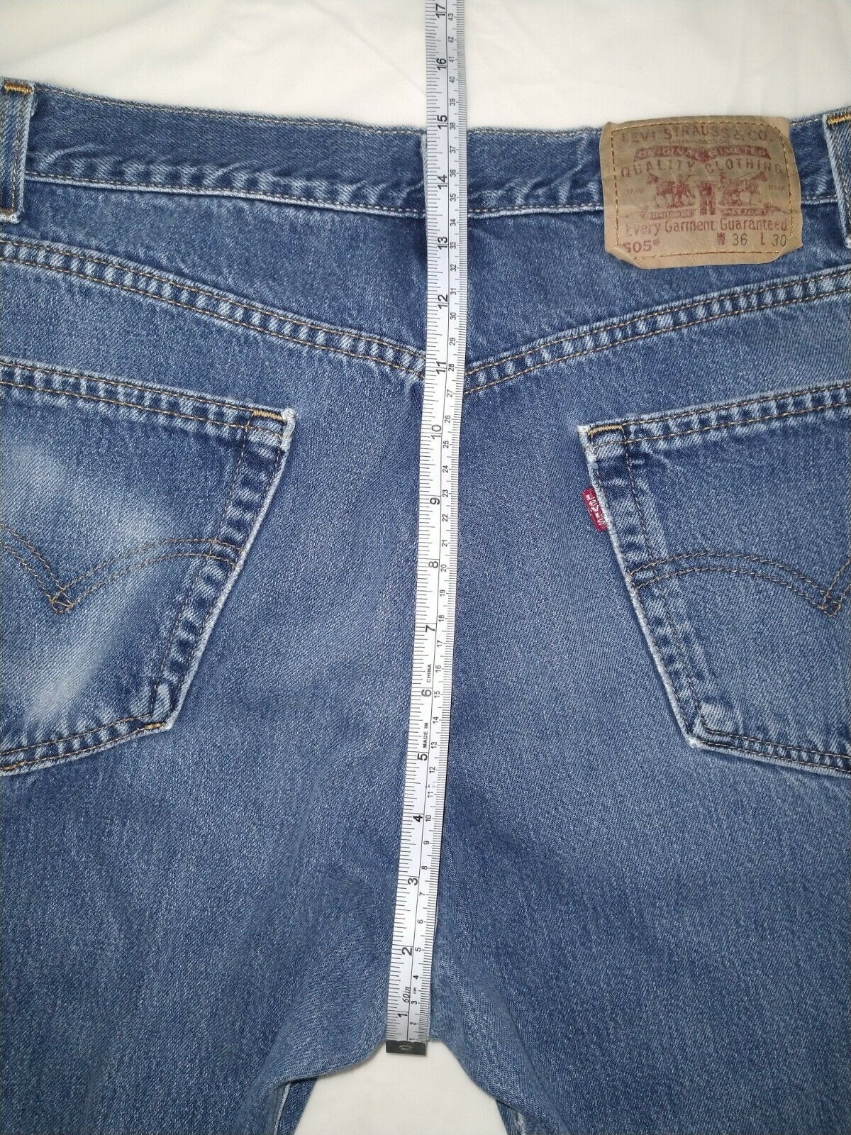 Levi's 505 Jean's Made in the USA Men's size 36x3… - image 6