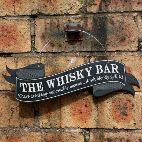 Pub  Joke Drinking Sign Funny WHISKY BAR Sign Humorous Hanging Home Bar Sign