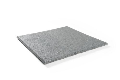 10 Stück Fallschutzmatten 50x50cm GRAU Gummimatten Schutzmatten Spielplatzmatten