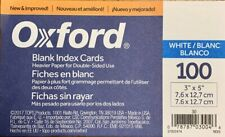 Oxford 30 3 X 5 Blank Index Card White 100pack 1 Pack