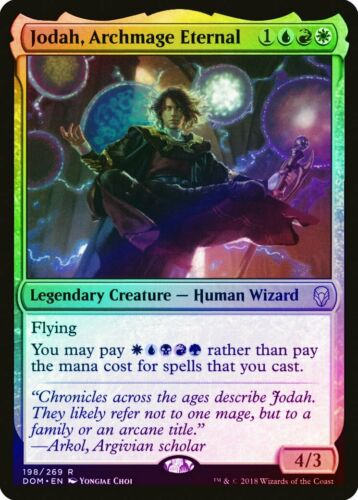 Jodah Archmage Eternal FOIL Dominaria PLD White Blue Red Rare CARD ABUGames