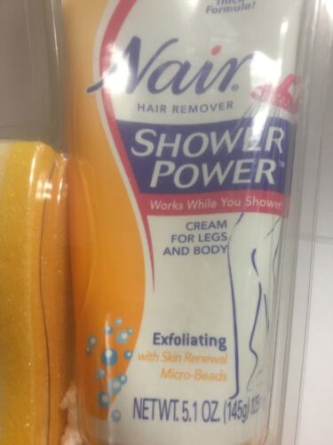 Shower Power Exfoliating Hair Remover Exfoliating Nair 5.1 oz Hair Remover NEW.