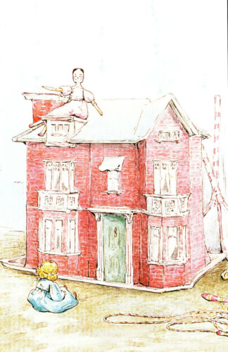 Postcard Beatrix Potter The Tale of Two Bad Mice Dolls House P133x