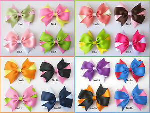 20 BLESSING Good Girl Boutique Vogue Colorful A Bird/'s Nest Hair Bow Clip