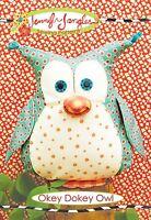 Okey Dokey Owl Sewing Pattern, 12 Inches Tall From Jennifer Jangles