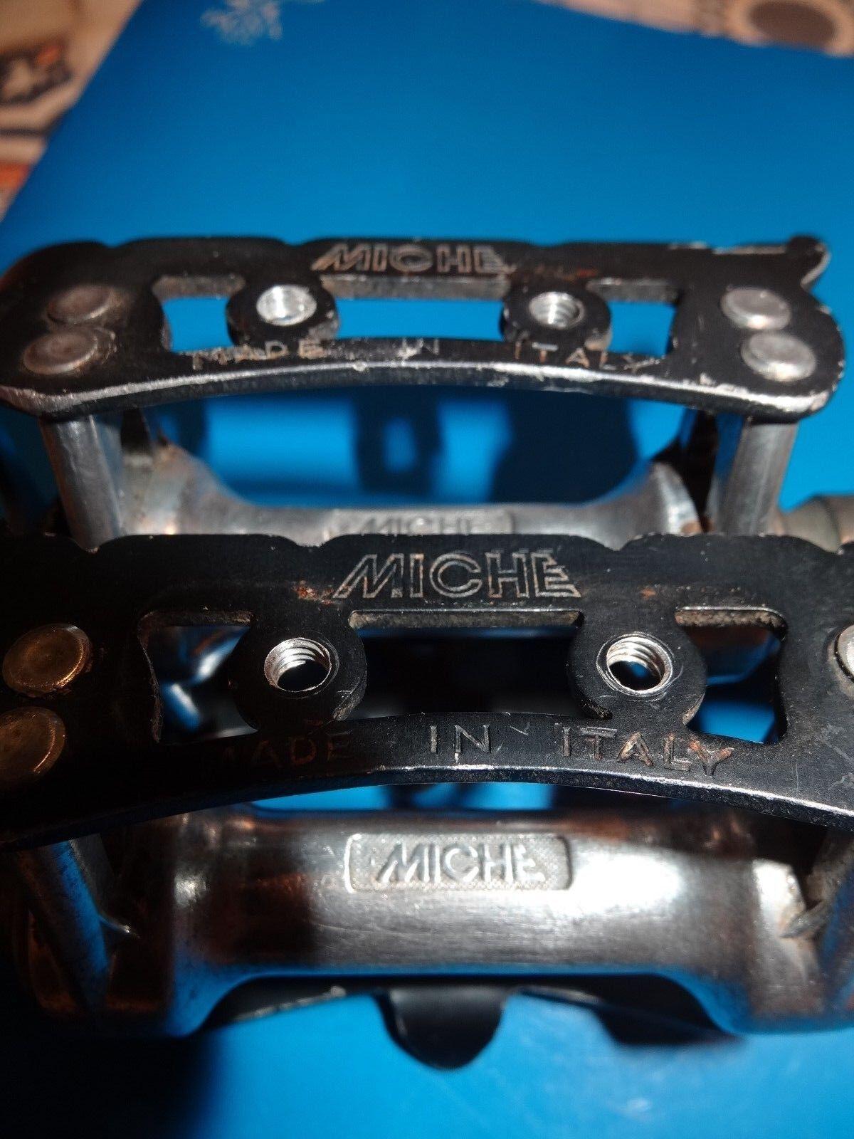 Vintage Miche Speciali 1201, 1201, 1201, Competition Pedales mid1980's 330gr L'Eroica d850ee