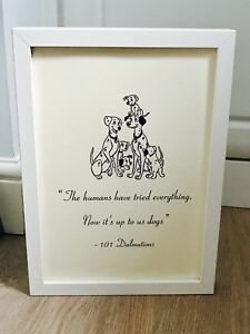 Disneys 101 Dalmatians Quote Print Or Framed Black Or White A4 Art