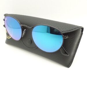 bbfa5f6713e Ray Ban RB 3447 002 4O 50 Shiny Black Blue Gradient Mirror New ...