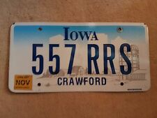 Plaque d immatriculation Iowa 557-RRS USA US License Plate