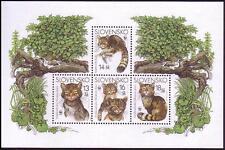 Slovakia WWF European Wild Cat Miniature Sheet SG#MS416 SC#434 MI#Block 22