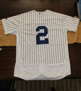 buy online 76fb3 4ec6b Details about Derek Jeter Jersey #2. White. Size XL. New York Yankees GOAT
