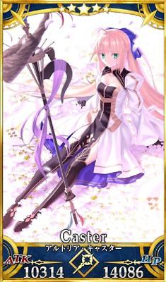 Fate Grand Order//FGO Starter Account JP SSR Artoria Caster