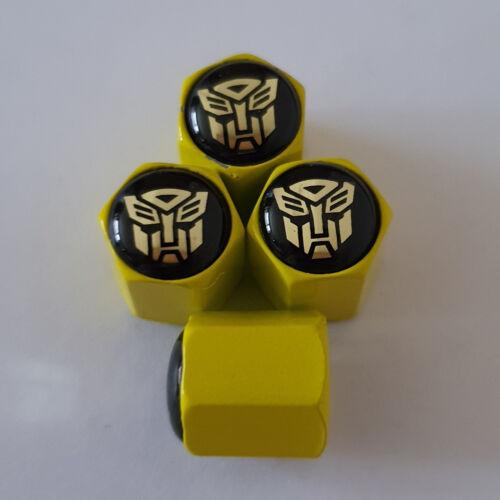 Transformers BUMBLEBEE AUTOBOTS Wheel Valve Dust Caps EXCLUSIVE toutes les voitures 7 cols