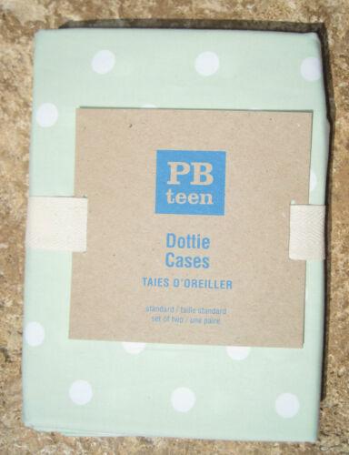 POTTERY BARN ~ PB TEEN ~PALE GREEN PILLOWCASES ~ SET OF 2  ~ BEDDING ~ PBKIDS