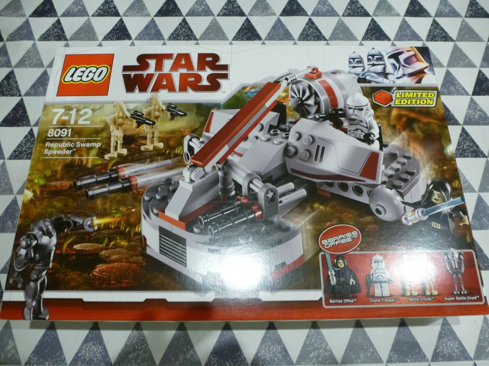LEGO NEW 8091 Republican Swamp Speeder Limited Edition  Great Box  See Pics