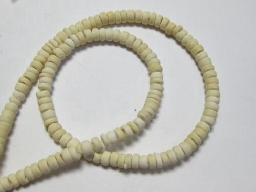"""5 Strands 16/"""" Natural White 5mm Coconut Rondelle Beads"""
