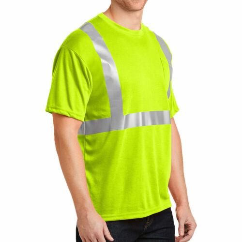Hi Viz Safety Vest Waistcoat Jacket With Pockets New High Visibility T Shirt Lot
