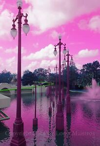 Louis-Armstrong-Park-in-Pink-NEW-ORLEANS-13x19-Print-SIGNED-by-Louis-Maistros