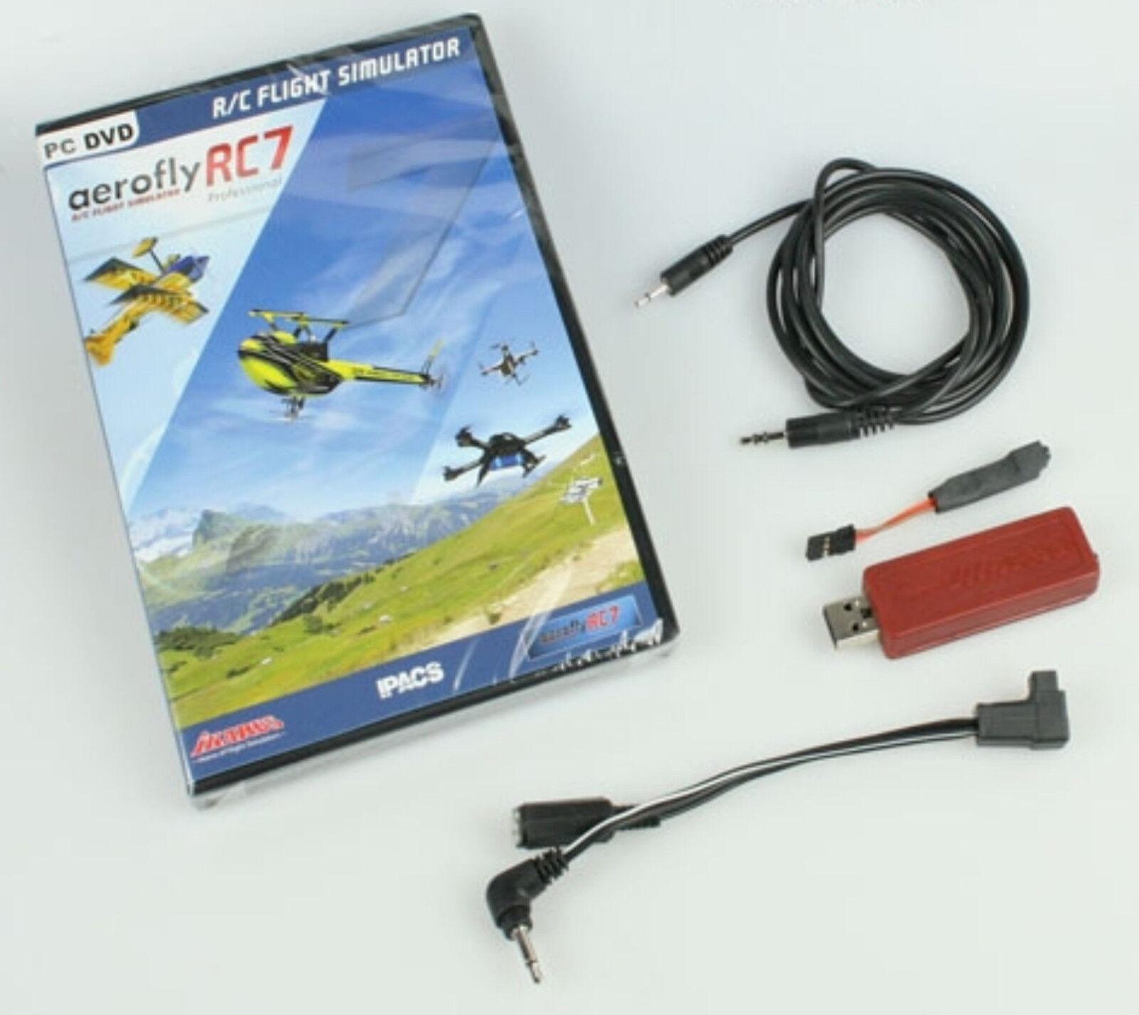 Ikarus IK3071036  Aerofly RC7 Professional con Interfaccia-Usb per Grp. Fut.  consegna lampo