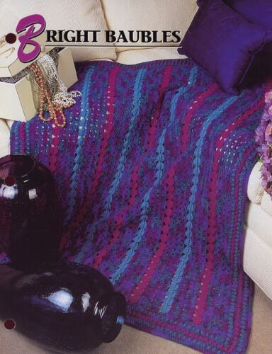Bright Baubles Afghan Annie/'s Crochet Pattern//Instructions Leaflet
