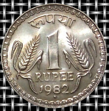 1982- 1/ ONE RUPEE BIG DABBU COIN 8 / EIGHT GRAM COPPER NICKLE COIN- INDIA