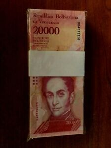 Venezuela-20-000-20000-Bolivares-X-100-Pcs-Bundle-2016-2017-Prefix-Varies-USED