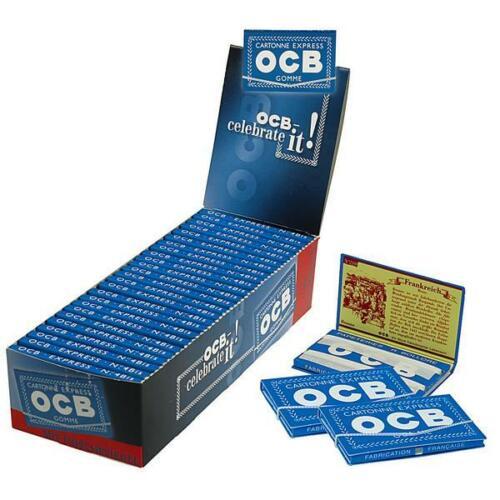 OCB Blau Gummizug Blatt Blättchen Drehpapier