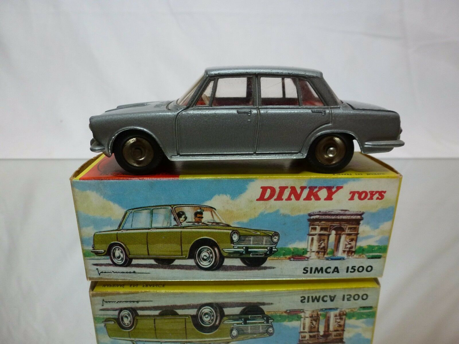 DINKY TOYS TOYS TOYS FRANCE 523 SIMCA 1500 - grigio 1:43 RARE - GOOD CONDITION IN BOX 680ad5