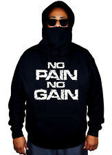 Men/'s No Pain No Gain Camo Sleeveless Vest Hoodie Fitness Workout Gym Lifting