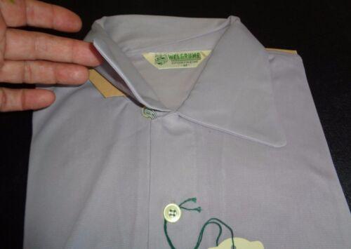 NOS 50's-60's WELGRUME Light Gray Loop 2 Button Pu