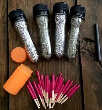 **Emergency Fire Starter Survival Kit**Mag Shavings& Rod/Insta-fire/h2o Matches!