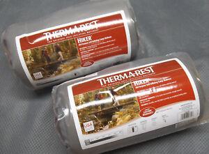 Therm-a-Rest-Hiker-Ground-Pad-72-034-Sleeping-Mat-2Pak-Regular-Self-Inflating-IR-gy
