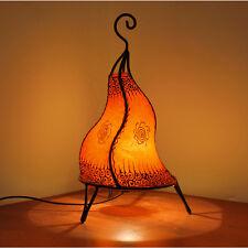 Orientalische Hennalampe Marokkanische Stehleuchte Leder Leuchte H42cm Orange