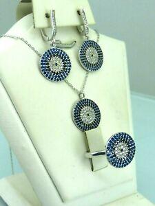 handmade jewelry sapphire earrings Sapphire Jewelry Set