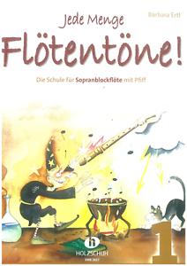Jede Menge Flötentöne Band 1 Sopranblockflöte VHR 3617 Schule Barbara Ertl