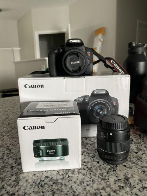 Canon EOS Rebel T8i 24.1MP DSLR Camera + EF-S 18-55mm f/4-5.6 IS STM + 50mm 1.8